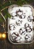 Chocolate Crinkles. Royalty Free Stock Image