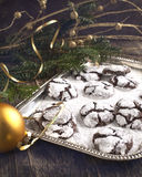 Chocolate Crinkles. Royalty Free Stock Photography