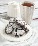Chocolate Crinkles. Royalty Free Stock Photos