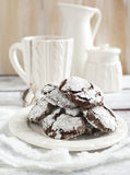 Chocolate Crinkles. Stock Photos