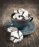 Chocolate Crinkles. Royalty Free Stock Images