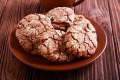 Chocolate crinkles cookies Stock Image