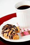 Chocolate croissant Royalty Free Stock Photos