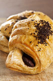 Chocolate croissant Stock Photos