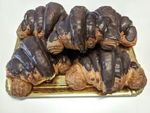 Chocolate croissant. French typical bakery Stock Image