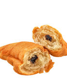 Chocolate, croissant Stock Photos