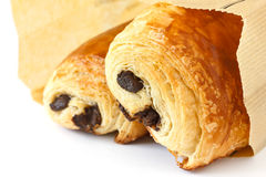 Chocolate croissants Stock Photography