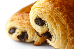 Chocolate croissants Royalty Free Stock Images