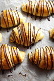 Chocolate croissants Royalty Free Stock Photography