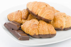 Chocolate Croissants. Stock Images