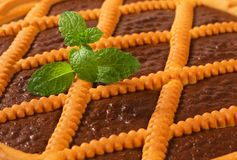Chocolate crostata Stock Photo
