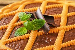 Chocolate crostata Royalty Free Stock Image