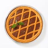 Chocolate crostata Royalty Free Stock Photos