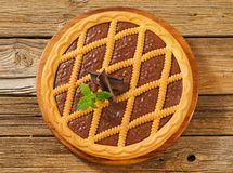 Chocolate crostata Stock Images