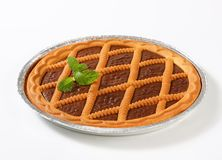 Chocolate crostata Stock Photography