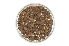 Chocolate crumb in a glass Royalty Free Stock Photography