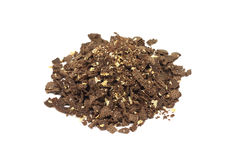 Chocolate crumb with pieces of walnut Royalty Free Stock Photos