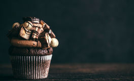 Chocolate and crunchy cupcake Royalty Free Stock Photo