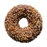 Chocolate and crushed nuts donut Stock Photo