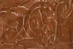 Chocolate crust. Closeup texture detail stock photography