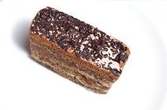 Chocolate crust cake Stock Image