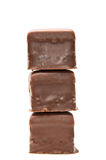 Chocolate cube tower front view Royalty Free Stock Image