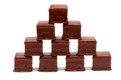 Chocolate cubes Stock Photography