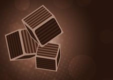 Chocolate cubes Royalty Free Stock Images