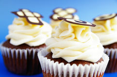 Chocolate cup cakes Stock Photography