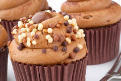 Chocolate cup cakes Royalty Free Stock Photo