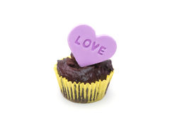 Chocolate cup cakes Royalty Free Stock Photography
