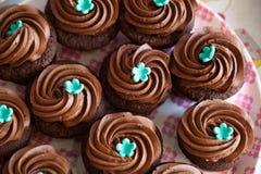 Chocolate cup cakes Stock Photos