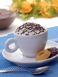 Chocolate cup and cookies. Royalty Free Stock Photo