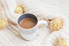 Chocolate cup with decoration Stock Image