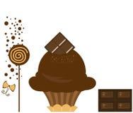 Chocolate Cupcake stock image
