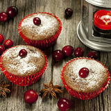 Chocolate cupcake with berry Royalty Free Stock Photo