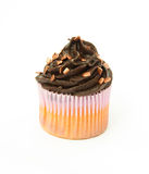 Chocolate Cupcake with Bronze Sprinkles Stock Photography