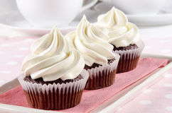 Chocolate cupcake with butter cream Royalty Free Stock Photography