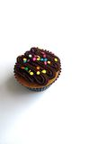 Chocolate cupcake with candy sprinkles Stock Photo