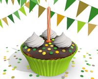 Chocolate cupcake for a child Royalty Free Stock Image