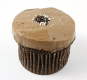 Chocolate Cupcake with Chocolate Frosting Royalty Free Stock Photos