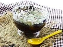Chocolate cupcake with chocolate sprinkles Royalty Free Stock Image