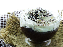 Chocolate cupcake with chocolate sprinkles Royalty Free Stock Photo