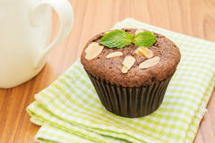 Chocolate cupcake with coffee mug Stock Photography