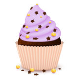 Chocolate cupcake with decorate Stock Images