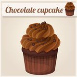 Chocolate cupcake. Detailed Vector Icon Royalty Free Stock Photography