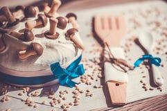 Chocolate cupcake for Easter celebration stock photos