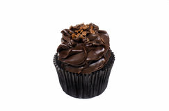 Chocolate Cupcake with Frosting Royalty Free Stock Photos
