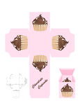 Chocolate cupcake gift box Stock Photography