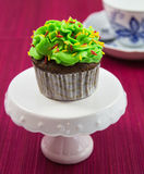 Chocolate cupcake Stock Images